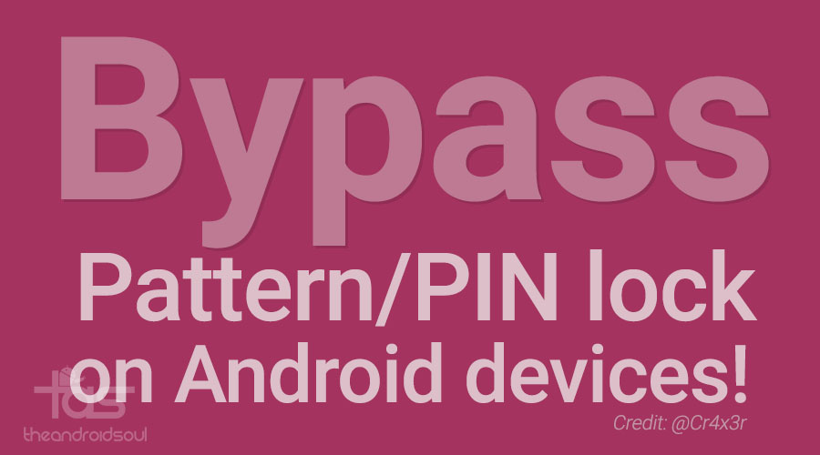 bypass pattern pin lock