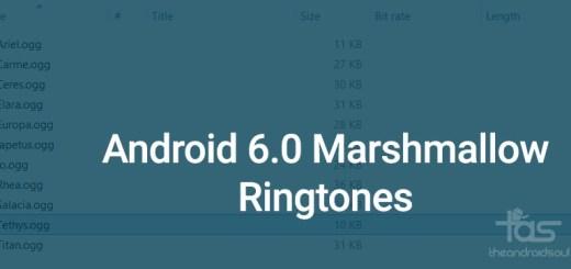 Android 6.0 Marshmallow ringtones