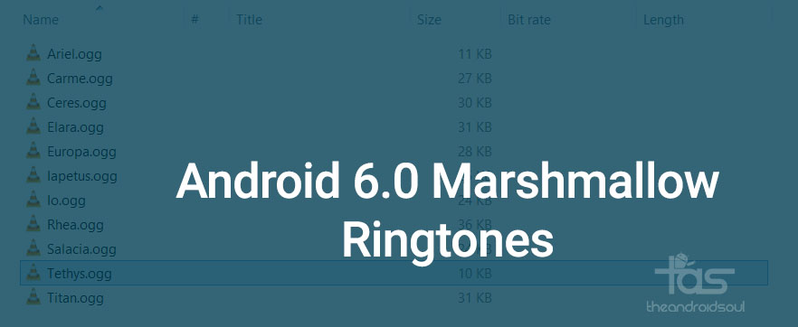Android 6.0 Marshmallow ringtones