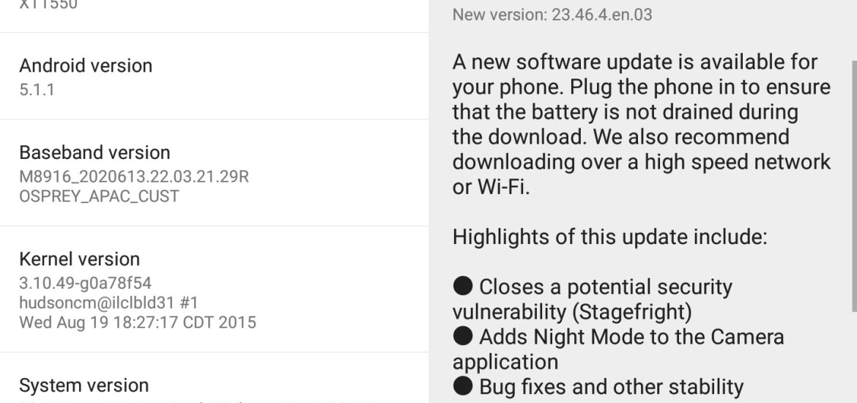 Moto G 3rd Gen software update OTA