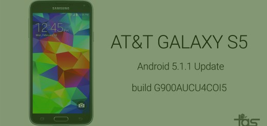 AT&T Galaxy S5 Android 5.1.1