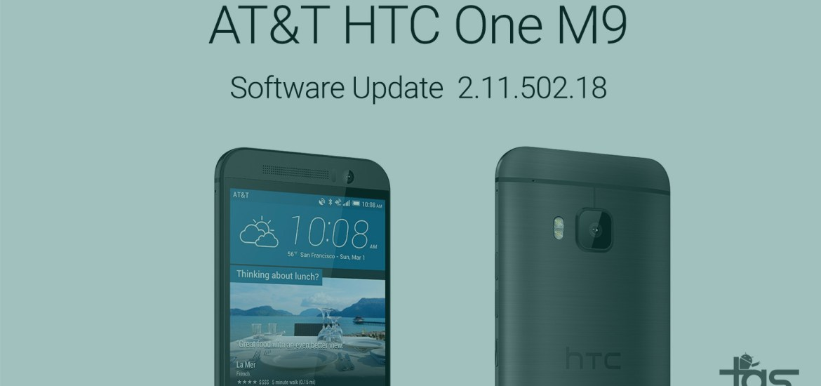 AT&T one m9 update