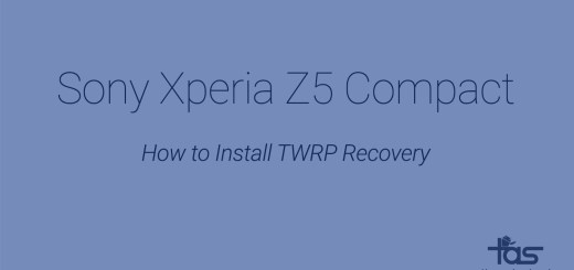 Xperia Z5 Compact TWRP Recovery
