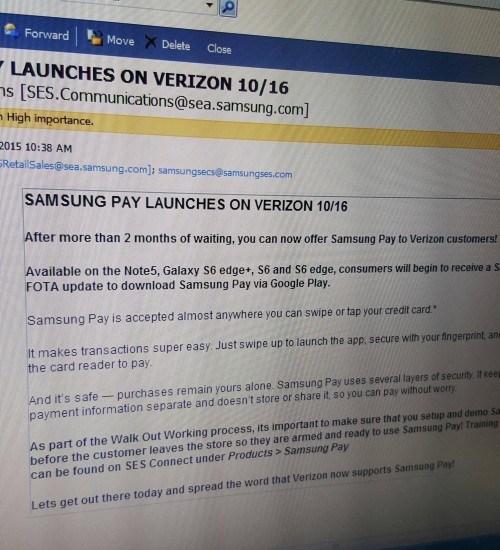 samsung pay verizon update