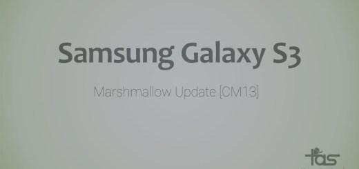 Galaxy S3 CM13