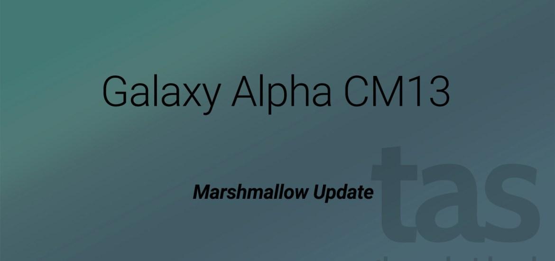 Galaxy Alpha Marshmallow Update