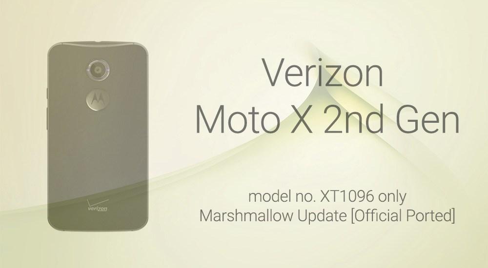 verizon moto x2 Marshmallow update