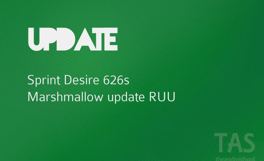 sprint desire 626s 6.0 update