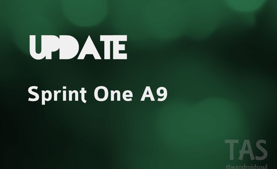 sprint one a9 update