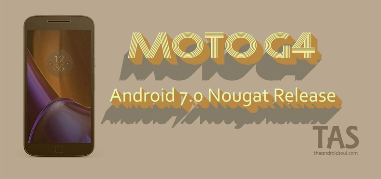moto g4 Nougat update