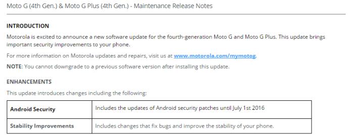 moto g4 ota update