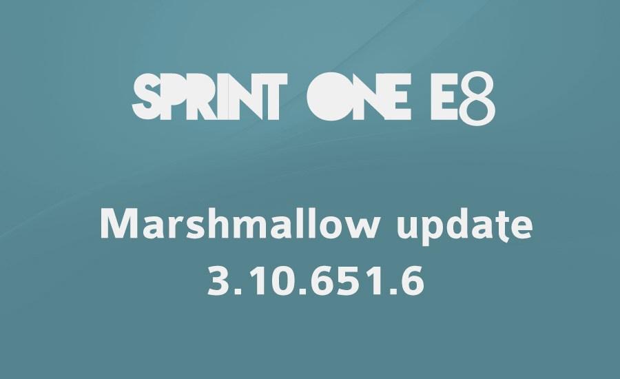 sprint one e8 Marshmallow