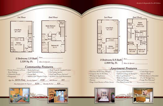 Apartment Brochure Samples Brochures Fairfield Lakes   Inside