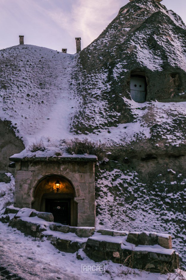 The entrance to a Cave House