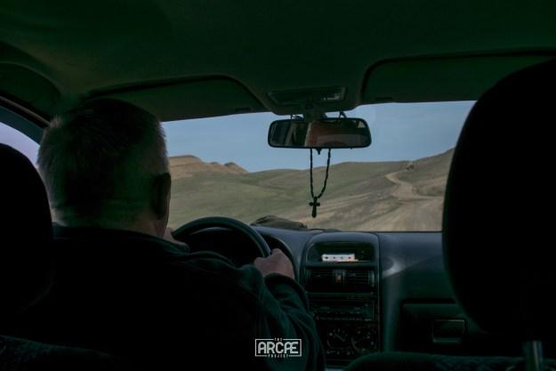 Driving through the Georgian desert