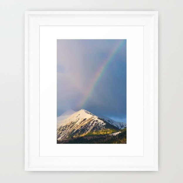 A rainbow over the Caucasus Mountains