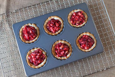 Cranberry Almond Mini Tarts