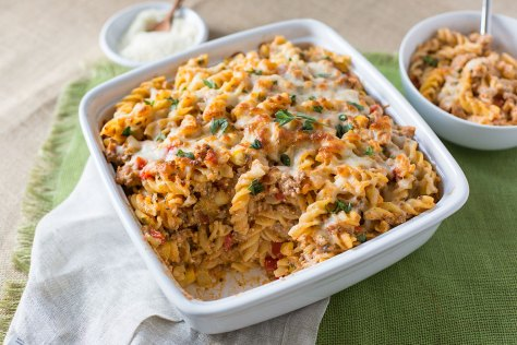 Cheesy Baked Pasta with Sausage and Summer Veggies