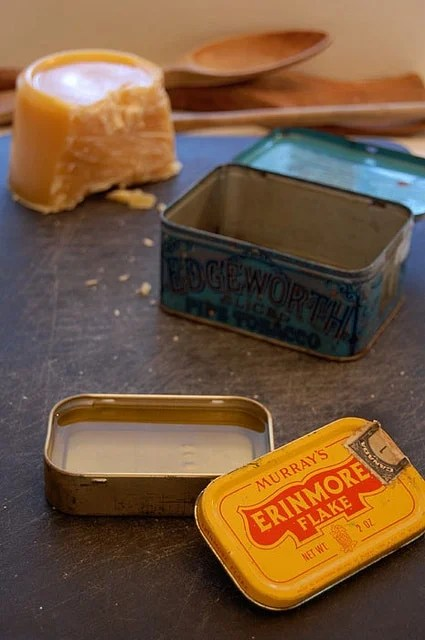 Board Butter In Antique Tins