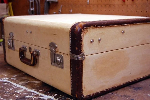 Old Wood Suitcase
