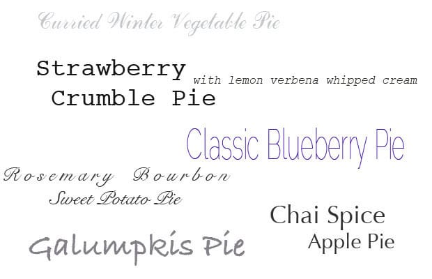 Pie Selections