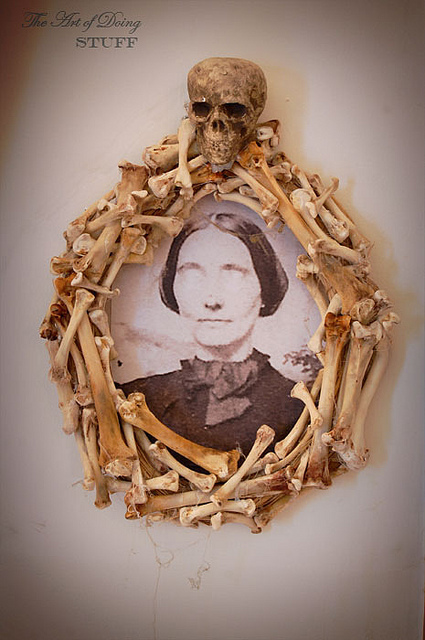 Wreath Frame Made Out Of Bones