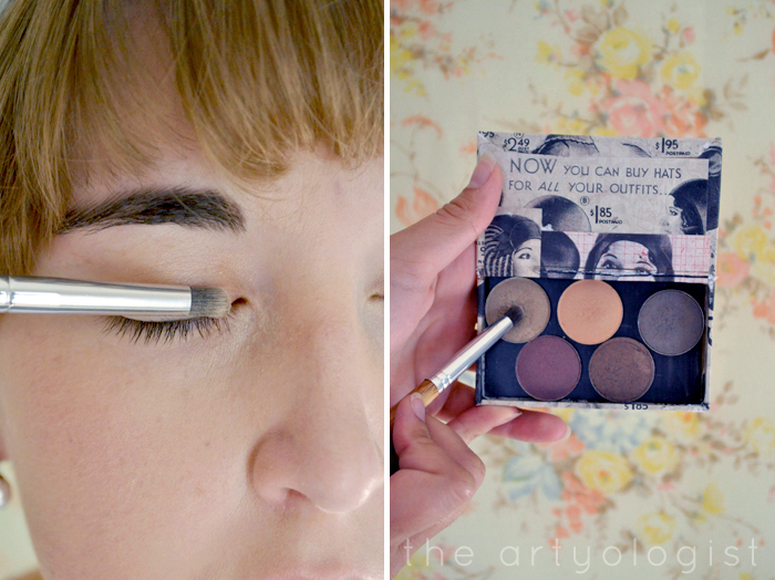 step two eyeshadow, How to Create a Modern 1920's Makeup Look, the artyologist
