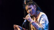 Yungchen Lhamo as she appeared in concert at the Leonard Nimoy Thalia Theater on January 28, 2015 (Photo credit: Jack Vartoongian/Front Row Photos)