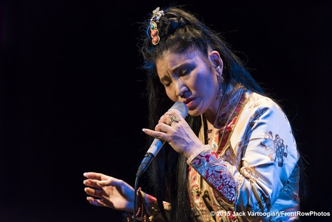 Yungchen Lhamo as she appeared in concert at the Leonard Nimoy Thalia Theater on January 28, 2015(Photo credit: Jack Vartoongian/Front Row Photos)