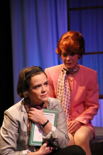 "Mary Ruth Baggott and Susan Izatt in a scene from ""Eat Dessert First"" By Dana Leslie Goldstein (Photo credit: Gerry Goodstein)"