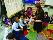 Music Lesson at JFK Elementary School, Boston (Photo credit: John Doyle)