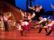 """The Company in a scene from NYGASP's """"The Gondoliers"""" (William Reynolds)"""