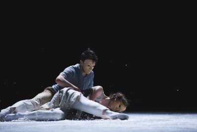 "A scene from Pontus Lidberg Dance's ""Snow"" (Photo credit: Petrus Sjövik)"
