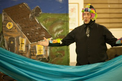 "Brian Goff in the title role of ""The Magic Fish"" (photo credit: Sean Moonsammy)"