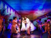 "Ana Villafañe, Josh Segarra and cast in a scene from the new musical ""On Your Feet!""(Photo credit: Matthew Murphy)"
