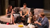 "Jolie Curtsinger, Jake Robards, Kim Wong and Zachary Clark in a scene from ""Promising"" (Photo credit: Michael Cinquino)"