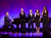"""Billy Stritch, Debby Boone, Nicolas King, Gabrielle Stravelli and La Tanya Hall as they appeared in 92nd Y's Lyrics & Lyricists Series: """"Witchcraft: The Jazz Magic of Cy Coleman (Photo credit: Richard Termine)"""