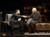 """Brian Avers and Frank Langella in a scene from Florian Zeller's """"The Father"""" (Photo credit: Joan Marcus)"""