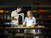 """Drew Gehling and Jessie Mueller in a scene from """"Waitress"""" (Photo credit: Joan Marcus)"""