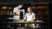 "Drew Gehling and Jessie Mueller in a scene from ""Waitress"" (Photo credit: Joan Marcus)"