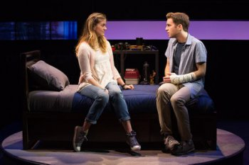"Laura Dreyfuss and Ben Platt in a scene from ""Dear Evan Hansen"" (Photo credit: Matthew Murphy)"
