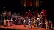 "A first act production number from NYGASP's revival of ""Princess Ida"" (Photo credit: William Reynolds)"