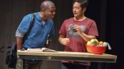 "Michael Potts and Tim Kang in a scene from ""Aubergine"" (Photo credit: Joan Marcus)"