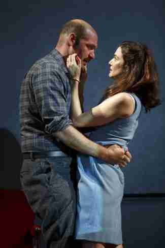 "Corey Stoll and Rachel Weisz in a scene from The Public Theater's revival of David Hare's ""Plenty"" (Photo credit: Joan Marcus)"
