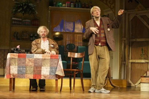 "Nick Kroll and John Mulaney in a scene from ""Oh, Hello on Broadway"" in a scene from ""Oh, Hello on Broadway"" (Photo credit: Joan Marcus)"