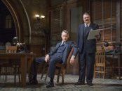 """John Slattery and Nathan Lane in a scene from """"The Front Page"""" (Photo credit: Julieta Cervantes)"""