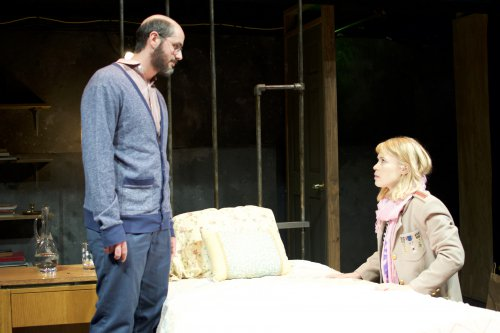 "Matt de Rogatis and Jillian Geurts in a scene from ""The Collector"" (Photo credit: Michael Greenstein)"