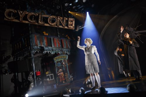 """Emily Rohm and cast in """"Ride the Cylone"""" (Photo credit: Joan Marcus)"""