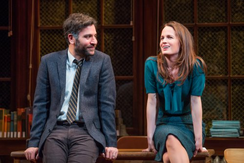 "Josh Radnor and Elizabeth Reaser in a scene from ""The Babylon Line"" (Photo credit: Jeremy Daniel)"