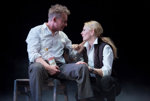 """Richard Roxburgh and Cate Blanchett in a scene from The Sydney Theatre Company's production of """"The Present"""" (Photo credit: Joan Marcus)"""